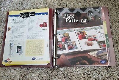 CREATIVE MEMORIES page patterns organizer 3 ring binder 7 layout idea books