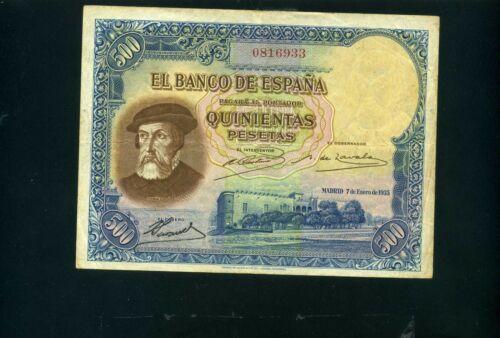 Spain 500 pesetas 1935 - VF+