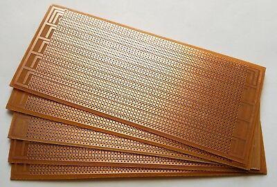 5pcs Diy Perf Board Prototype Pcb Universal Matrix Circuit Breadboard 8.5x20cm