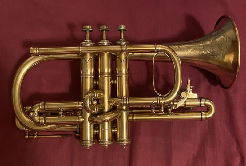 1909 Conn Gold Plated Cornet