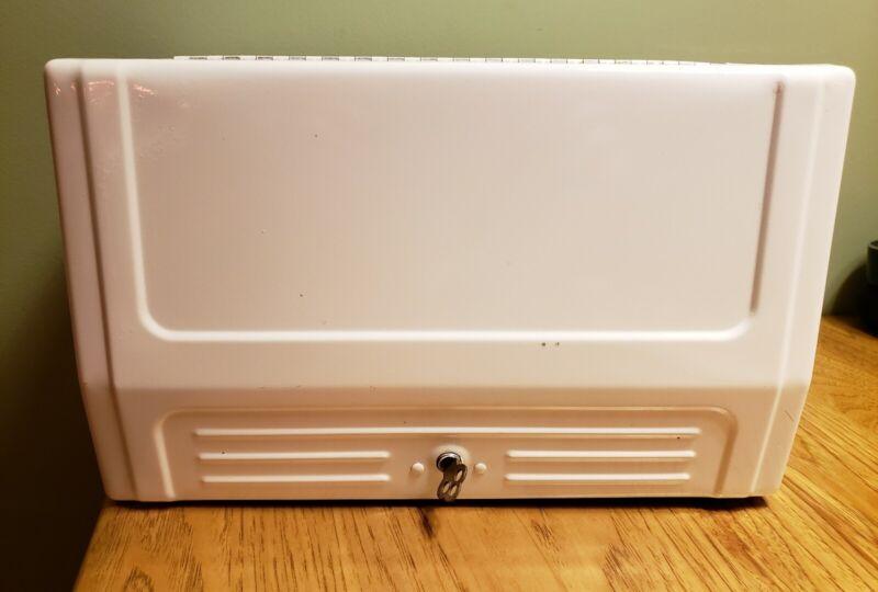 Vintage...UNBRANDED Industrial Paper Towel Cabinet Style Holder