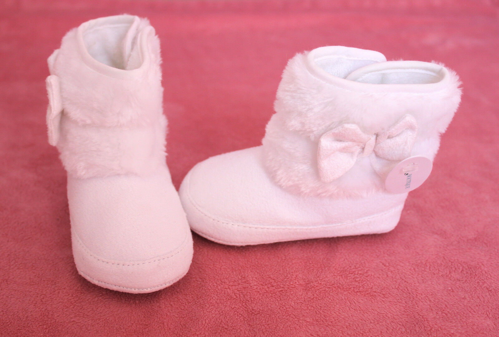 NWT First Walkers Baby Girl White Winter Boots