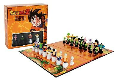 Dragon Ball Z Collector's Chess Set 32 DBZ Custom Chess Pieces with Board