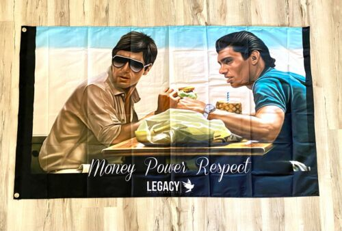 Money Power Respect 3ftx5ft flag banner scarface tony montana limited edition