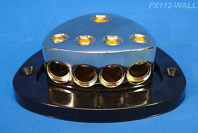 1 IN 4 OUT POWER DISTRIBUTION BLOCK 1/0 GAUGE 4 AWG HEAVY DUTY 12-VOLT US SELLER