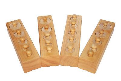 Montessori Material Einsatz Zylinder Set 24teilig Sinnesmaterial Feinmotorik