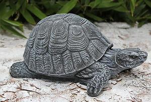 Figura di pietra tartaruga grigio ardesia pietra colata for Tartaruga da giardino