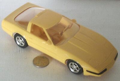 """Plastic Promo Car 1995 Chevrolet Corvette  Bright Yellow 7"""""""