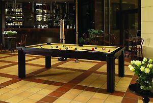 Billard PRONTO 8 ft Billardtisch Billiard Pool Poolbillard und Esstisch Schiefer