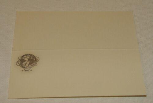 (2) ORIG 1965 NYWF UNUSED PLACE CARDS WITH EMBOSSED CORP UNISPHERE LOGO