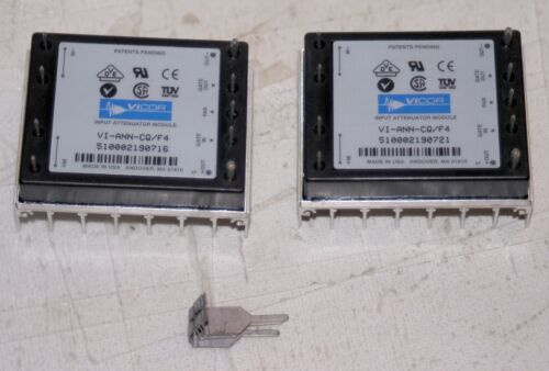 (2 Lot) VICOR VI-ANN-CQ-F4 INPUT ATTENUATOR ROHS  36-76 DCV  400W