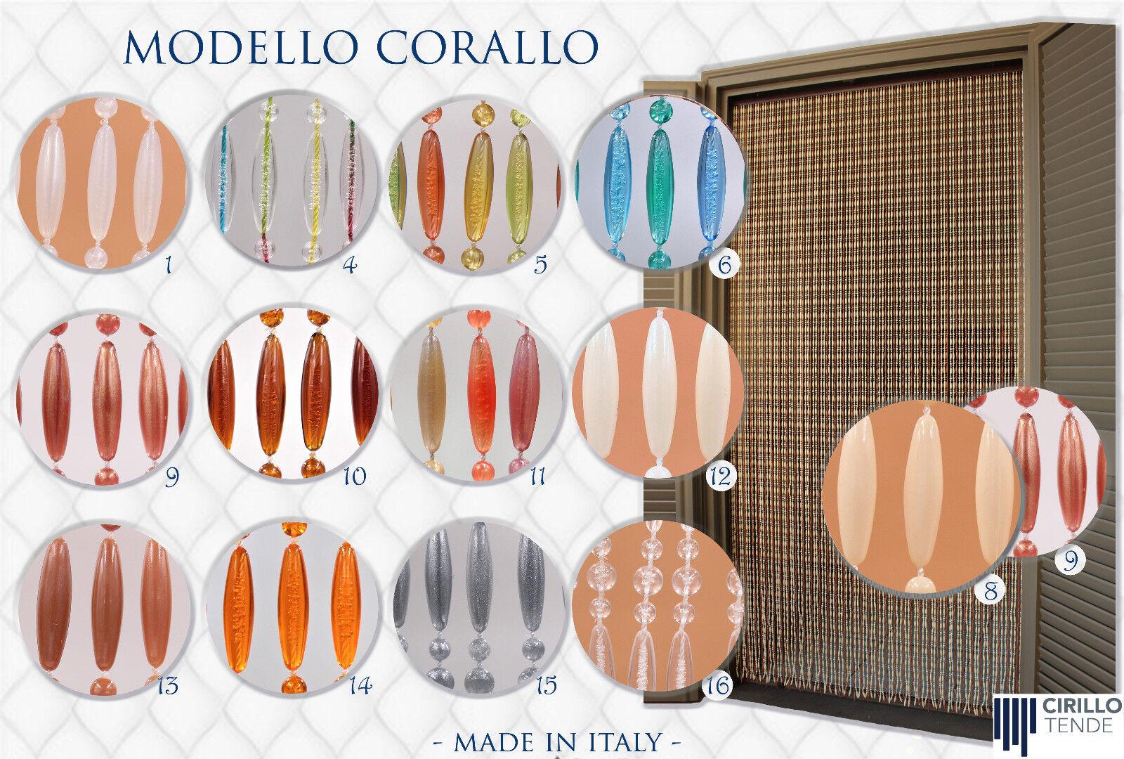 Tenda Moschiera a fili PVC, Modello Perla Asta Alluminio varie misure e colori.