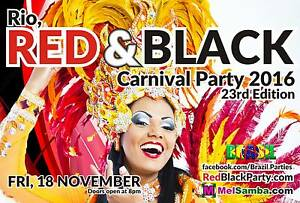 RIO, RED & BLACK CARNIVAL PARTY 2016 - Celebrate Brazil! Fitzroy Yarra Area Preview