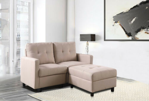 7-Piece Modular Sectional Sofa Modern Living Room Linen Couch With Back Cushion  2