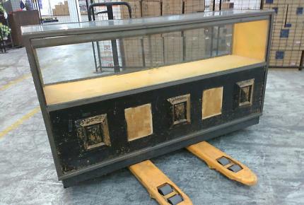 Ex vintage retail glass display cabinet