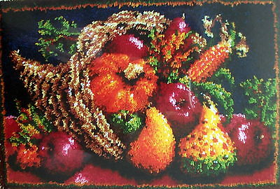 "WONDERART   LATCH HOOK RUG KIT   ""COUNTRY HARVEST  RUG"""