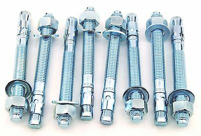 (8) Concrete Wedge Anchor Bolts 3/4 x 7 Includes Nuts & Washers