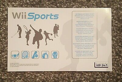 UNSCRATCHED WII POINTS WII SPORT CLUB NINTENDO, used for sale  Shipping to Nigeria