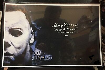 George P. Wilbur Signed 11x17 Halloween 4 Michael Myers Poster COA Holo (George Wilbur Halloween)