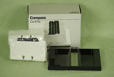 New Tenex Contact Business Card File Like A Rolodex Compaxx 515d 4x2 14 Cards