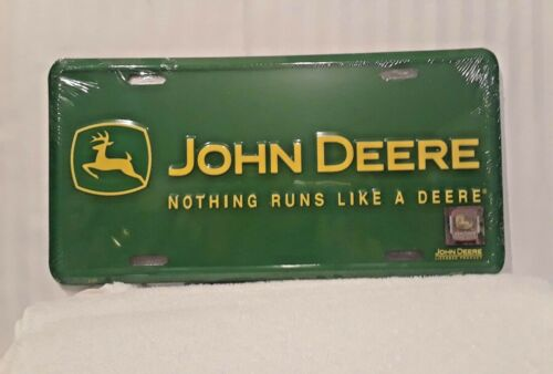 GREEN JOHN DEERE TAG/SIGN