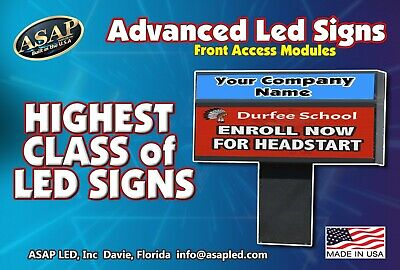 Led Sign Programmable Electronic Full Color Display 6.5 X 113 Us Factory