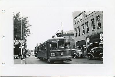 6D810 RP 1940s? MONONGAHELA WEST PENN PUBLIC SERVICE RAILWAY CAR PARKERSBURG WV