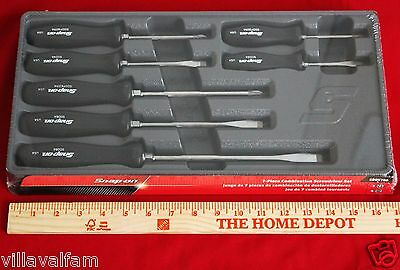 Snap On 7 Piece Black Hard Handle Combination Screwdriver Set- Brand New