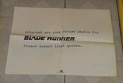 original BLADE RUNNER advertising ad slicks review shells