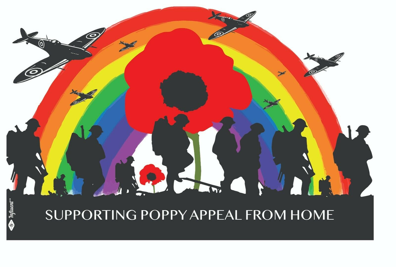 Home Decoration - Lest We Forget, Remembrance Day, Supporting poppy appeal from home Stickers