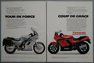 1986 Vintage PAPER PRINT AD 2-pg KAWASAKI ZG 1000 NINJA 1000R