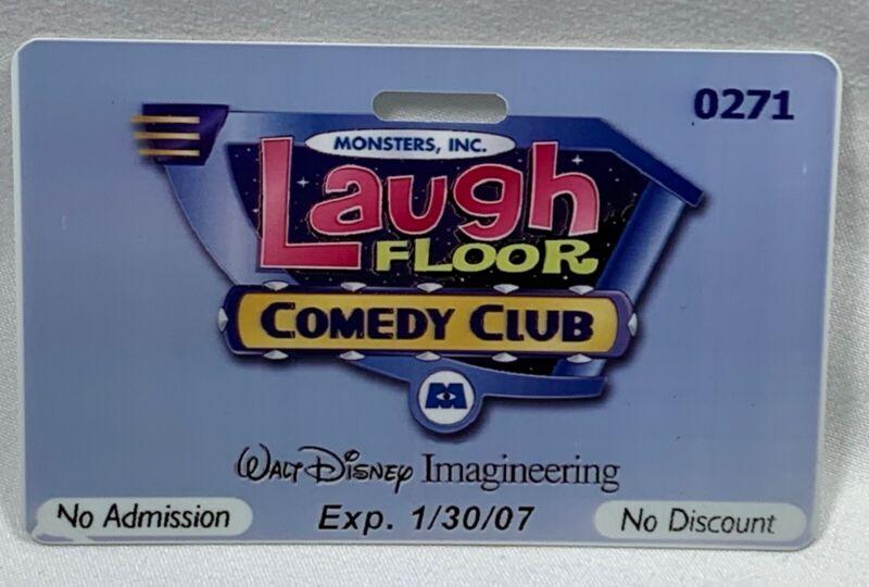Disney World Cast Member Imagineer Monster Inc Laugh Floor IMAGINEERING ID Pass