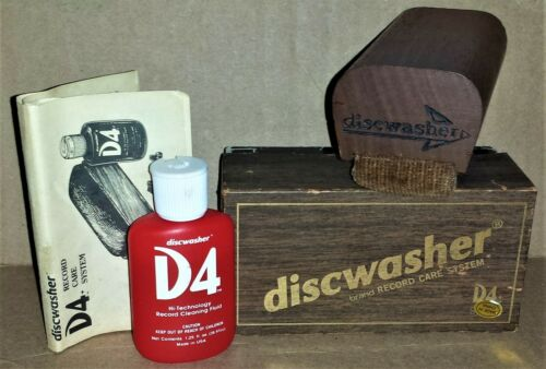 1991 DISCWASHER D4+ Record Care System (w/Box, Fluid, Manual)