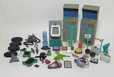 Big Lot of rare Invader Zim Figure Playset Accessories, Food, Iguana, Stands