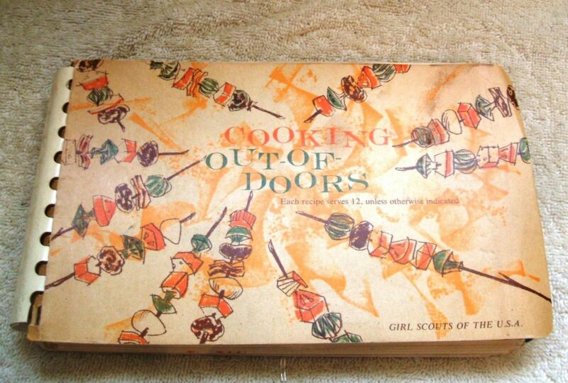Vintage 1960 Paperback Cooking Out-Of-Doors by Girl Scouts of America Cookbook
