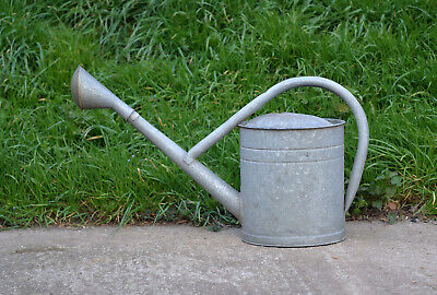 old vintage BAT watering can / metal can with rose / 12.5 L  - FREE DELIVERY
