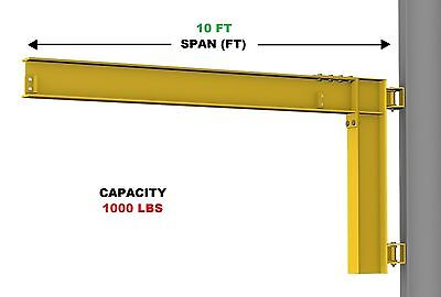 Gorbel Cantilever Jib Crane - 12 Ton Capacity Span 10 Ft Wall Mounted