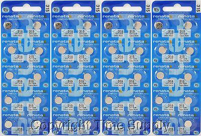 40 Pcs 315 Swiss Renata Watch Batteries Sr716sw Sr716sw 0...