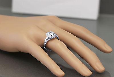 GIA H-VS2 14k White Gold Round Cut Diamond Engagement Ring Deco Prong 1.95ctw 4