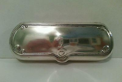 Antique German Silver Eye Glass Glasses Case Holder edge design