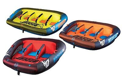 HO Sports EXO 1 2 3 4 or 5 Person Towable Tube Water Raft w/ 50' Tow Rope & Pump