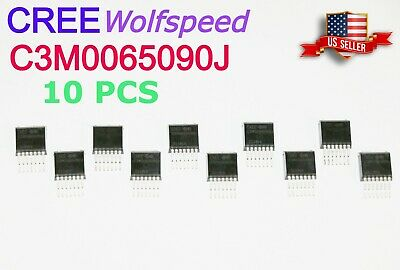 10 Pcs New Cree C3m0065090j Silicon Carbide Mosfet 65 Mohm 900 V Sic Fet