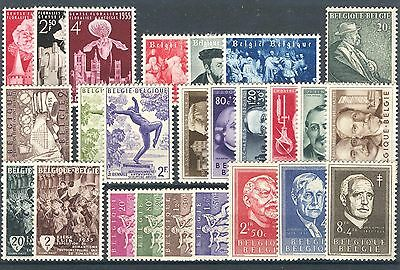 BE - BELGIUM 1955 complete year set MNH