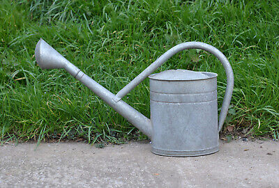 old vintage BAT watering can / metal can with rose / 10 L  - FREE DELIVERY