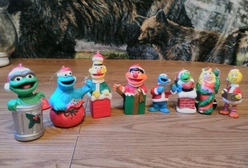Jim Henson  Sesame Street Christmas Ornaments Lot Of 8