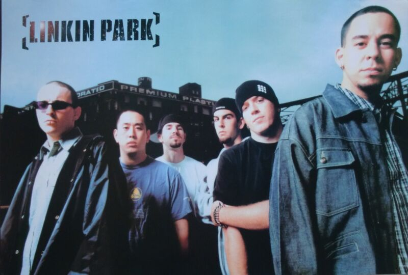 """LINKIN PARK """"GROUP IN FRONT OF FACTORY"""" POSTER FROM ASIA-Alternative Metal Music"""
