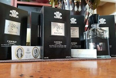 Creed Aventus 100ml For Men. 3.3 oz CM4218K11. Free Creed Sample! Fast Delivery!