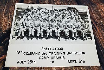 CAMP UPSHUR Quantico Virginia Marine Corps 2nd Platoon F Company 3rd Battalion