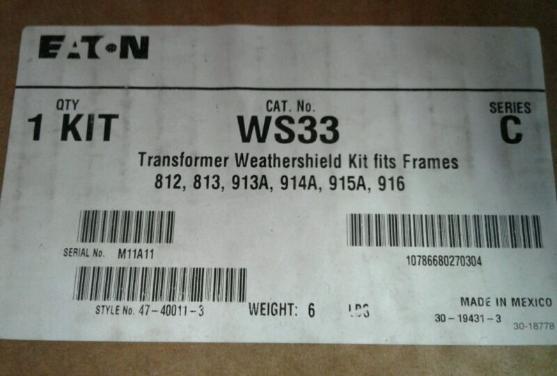 WS33 SIEMENS TRANSFORMER WEATHERSHIELD KITS.