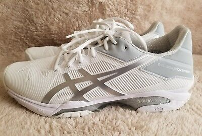 4ab8ba9752bc ASICS Men's Gel-Solution Speed 3 Clay Tennis Shoe White/Silver 11 US New